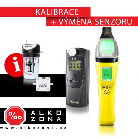Kalibrace a výměna senzoru - firemní alkohol testery