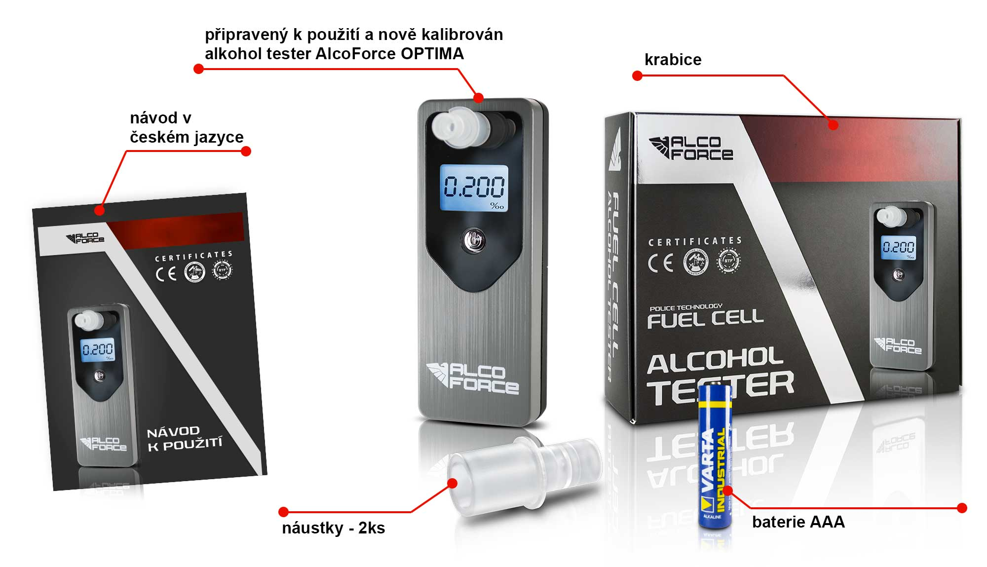 Alkohol tester OPTIMA